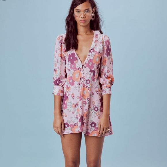 416615604320 For Love And Lemons Dresses & Skirts - For Love & Lemons Magnolia Trapeze  Mini Dress